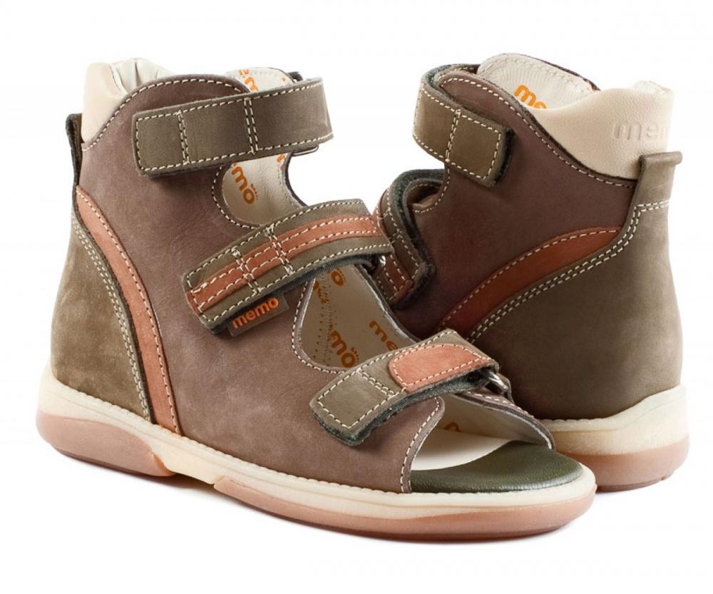 cae64484d Детская ортопедическая обувь MEMO Virtus DRMC 1BE коричнево-зеленый ...
