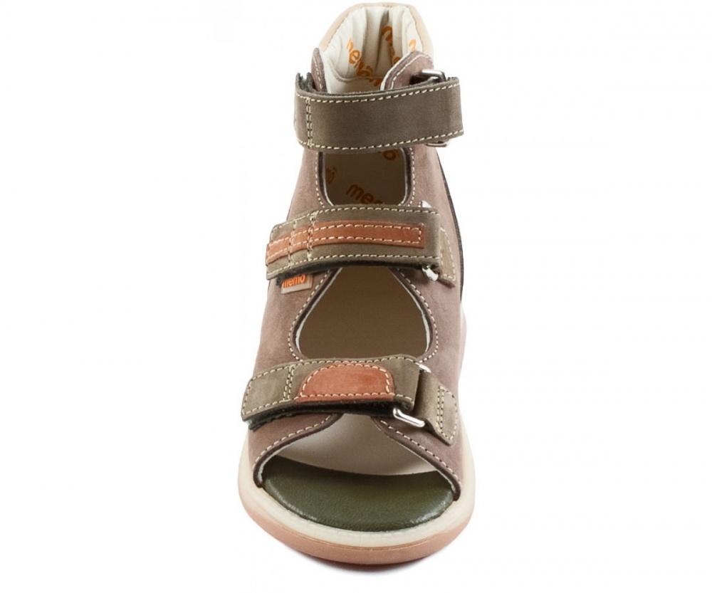 5128c0d7c ... Детская ортопедическая обувь MEMO Virtus DRMC 1BE коричнево-зеленый ...
